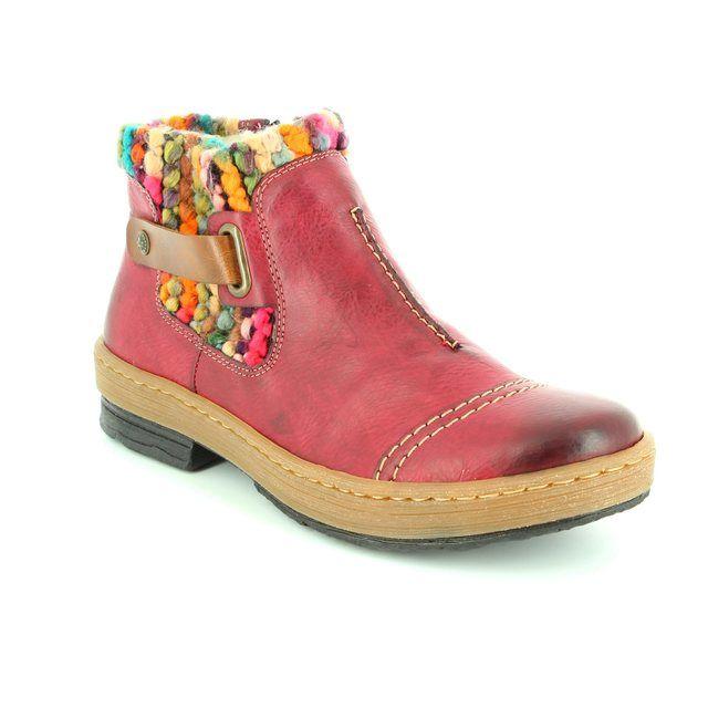 Rieker Z6784-35 Wine ankle boots
