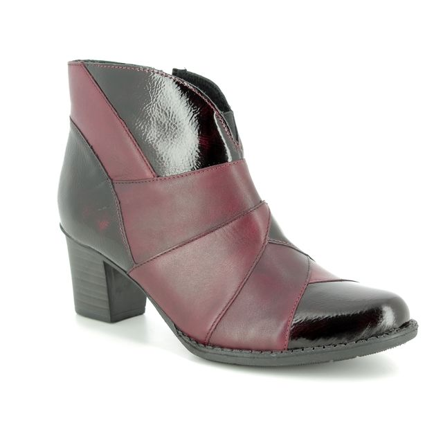 Rieker Fashion Ankle Boots - Wine patent - Z7676-35 TOOLPA