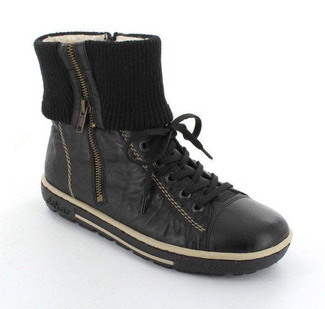 Rieker Z8760-00 Black ankle boots