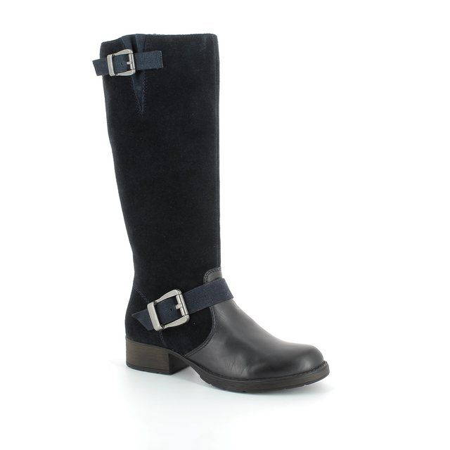 Rieker z9580-14 Navy suede knee-high boots