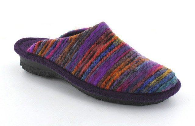 Rohde Emden 2275-59 Purple multi slipper mules