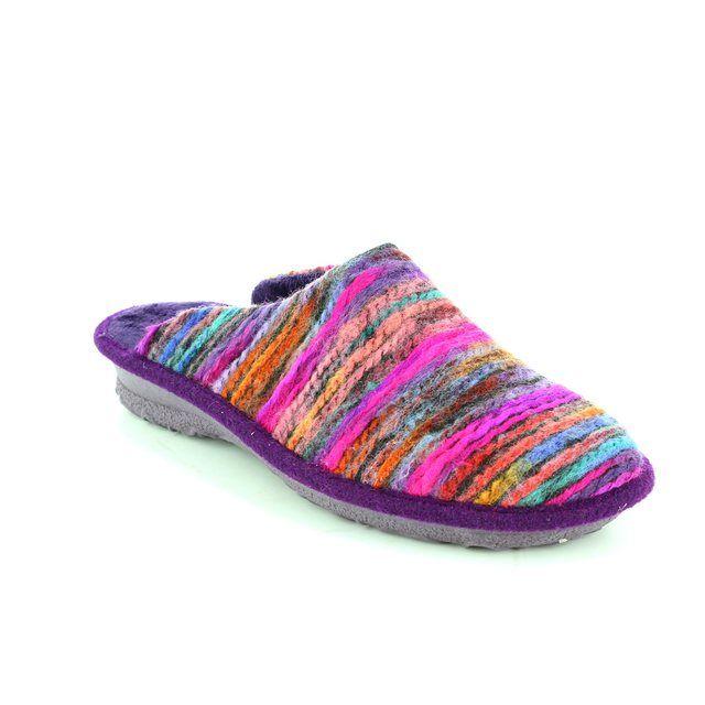 Rohde Emden 62 2265-59 Purple multi slippers