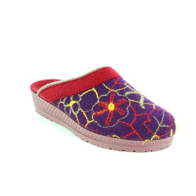 Rohde Slipper Mules - Purple multi - 2289/59 NATURA