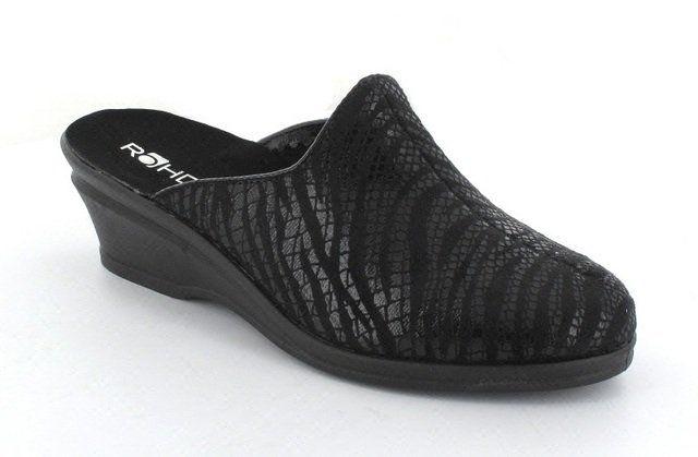 Rohde Spark 42 2375-90 Black slipper mules