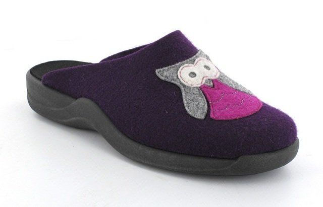 Rohde Vasowl 2301-59 Purple multi slipper mules