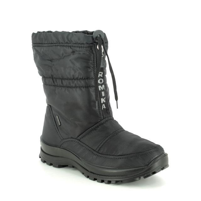 Romika Westland Alaska 118 Tex 87018-76100 Black Winter Boots