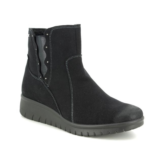 Romika Ankle Boots - Black Suede - 50218/102100 VARESE N 18