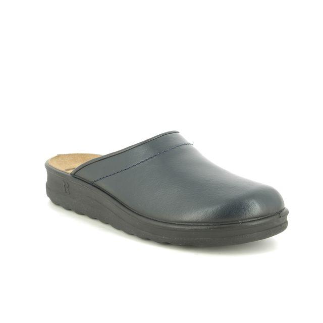 Romika Village 260 49060-95503 Navy Leather slippers