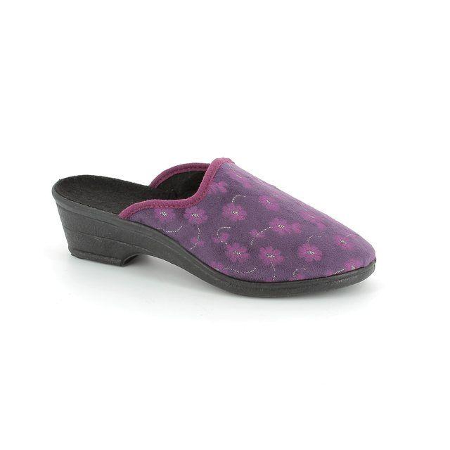 Rondinaud Slipper Mules - Violet - 182986 SASBA