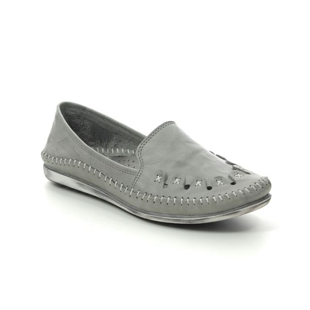 Roselli Comfort Slip On Shoes - Grey leather - 2020/17 SOPHIE