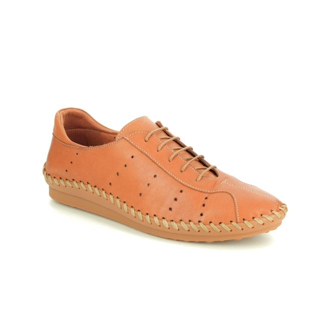 Roselli Lacing Shoes - Tan Leather  - 2020/29 ISLA