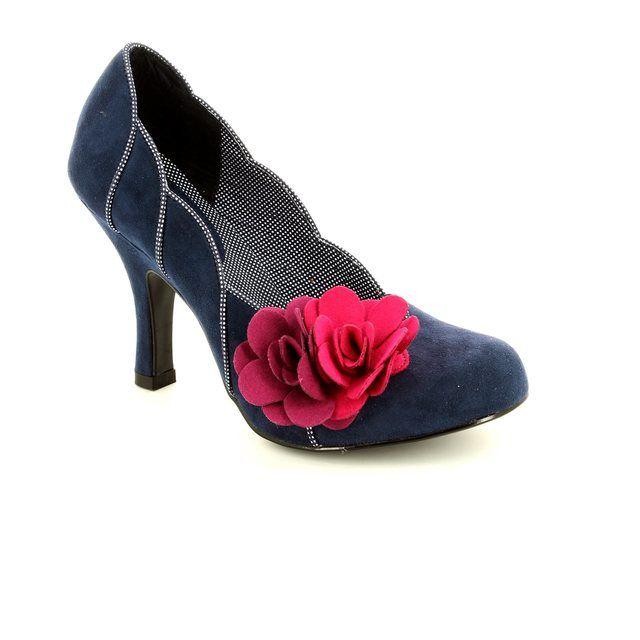 Ruby Shoo April 08897-70 Navy multi high-heeled shoes