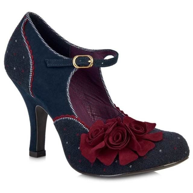 Ruby Shoo Ashley 09005-70 Navy high-heeled shoes
