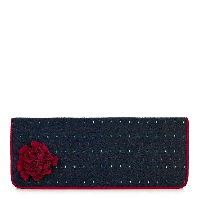 Ruby Shoo Ashley London 50058-70 Navy matching handbag