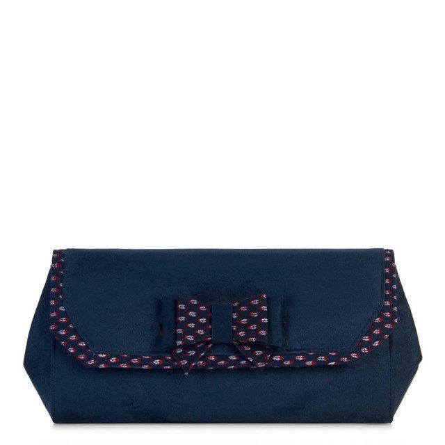 Ruby Shoo Brighton Ivy 50056-70 Navy matching handbag