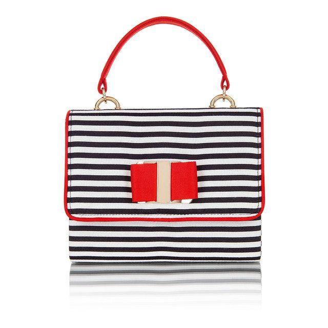 Ruby Shoo Casablanca Jun 50133-35 Black-red combi matching handbag