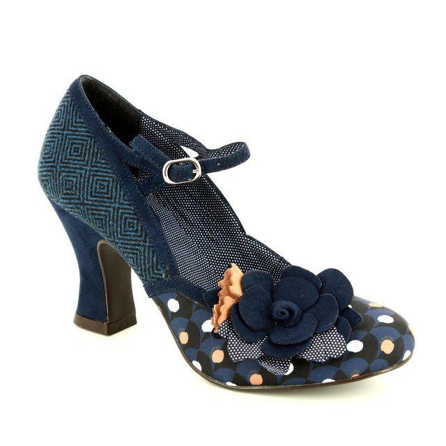 Ruby Shoo High-heeled Shoes - Navy multi - 09129/70 DEE