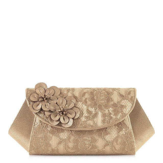 Ruby Shoo Dubai Elsy 50066-10 Gold matching handbag