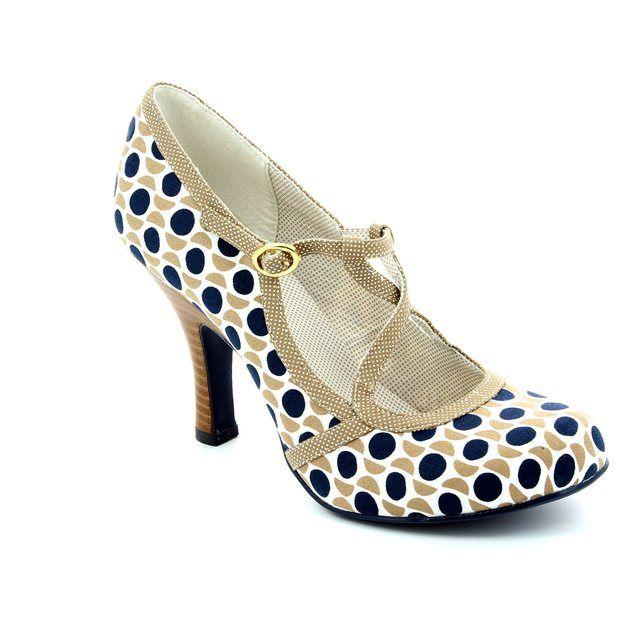 Ruby Shoo Edie 08906-22 Taupe multi high-heeled shoes