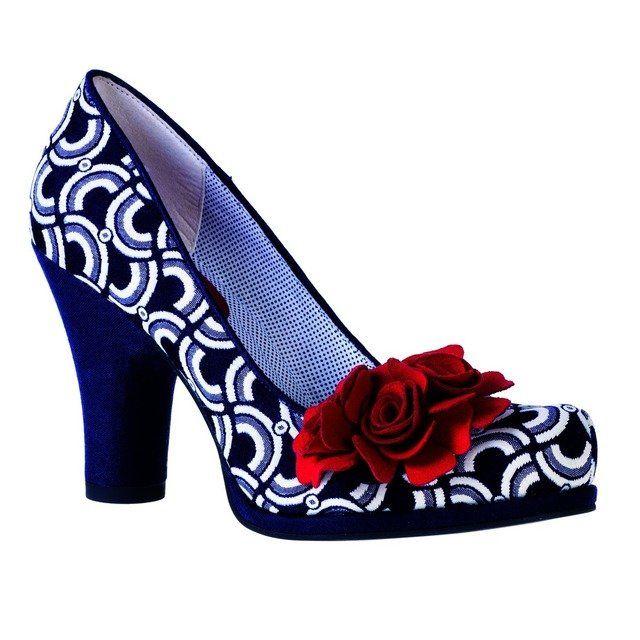 Ruby Shoo Eva 0872-27 Blue multi high-heeled shoes
