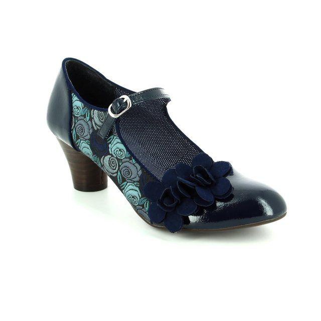 Ruby Shoo Freya 09144-70 Blue heeled shoes