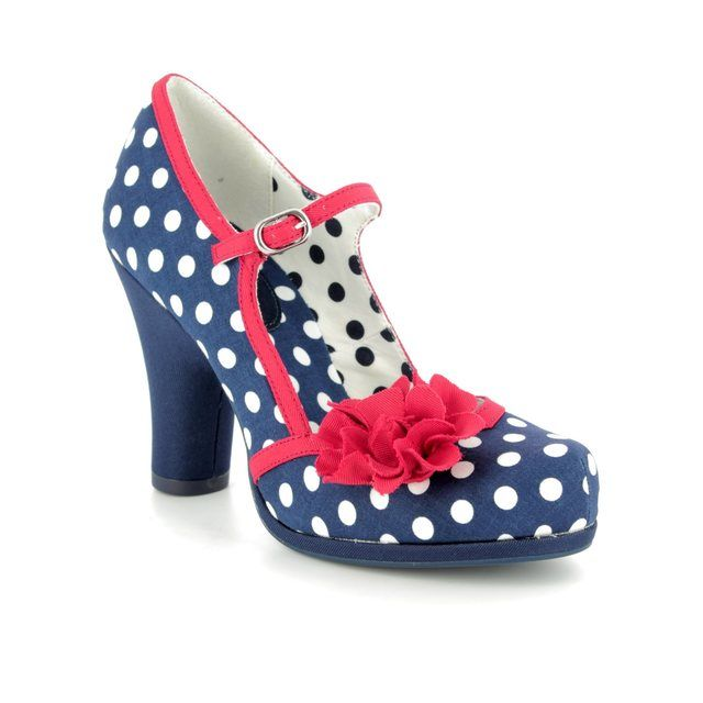 Ruby Shoo High-heeled Shoes - Navy multi - 09180/70 HANNAH