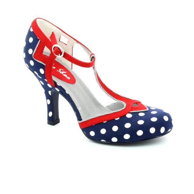Ruby Shoo Hatty 08899-77 Navy multi high-heeled shoes