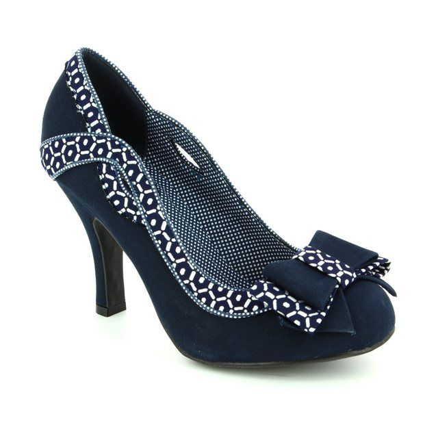 Ruby Shoo High-heeled Shoes - Navy multi - 09080/75 IVY