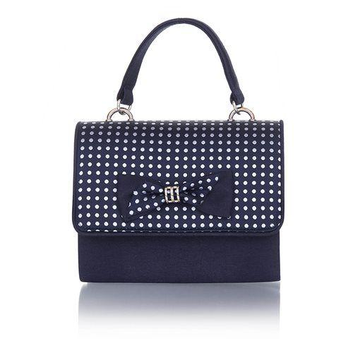 Ruby Shoo Mali Cordelia 50119-70 Navy matching handbag