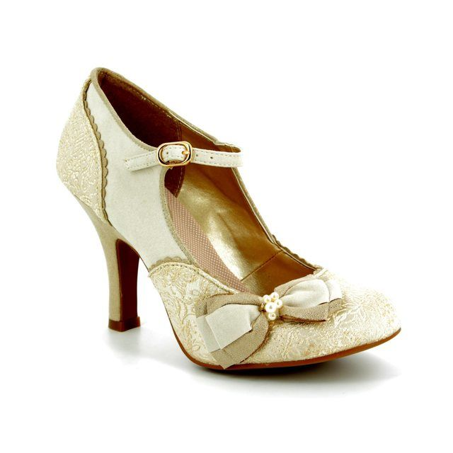 Ruby Shoo High-heeled Shoes - Cream - 09155/75 MARIA