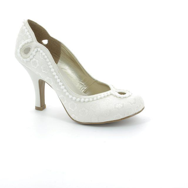Ruby Shoo Miley 08901-75 Cream high-heeled shoes