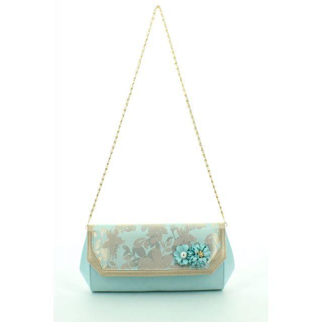 Ruby Shoo Phoenix Yasmin 50069-70 Pale blue matching handbag