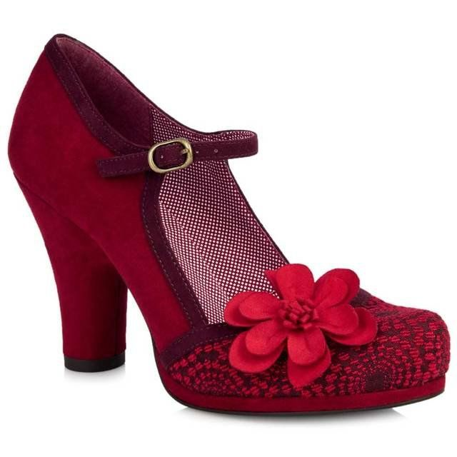 Ruby Shoo High-heeled Shoes - Red - 09009/80 TANYA