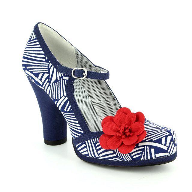Ruby Shoo High-heeled Shoes - Navy multi - 09098/70 TANYA