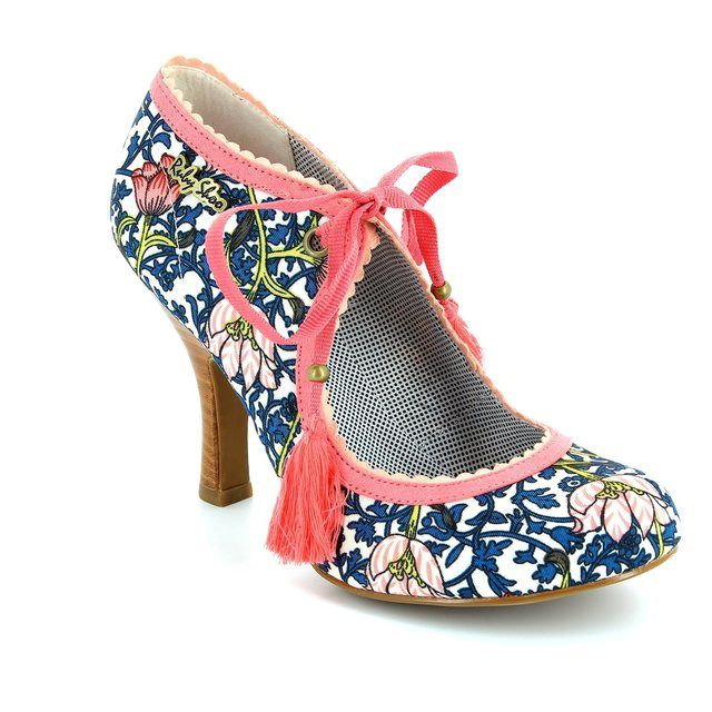 Ruby Shoo Willow 08900-70 Navy multi high-heeled shoes