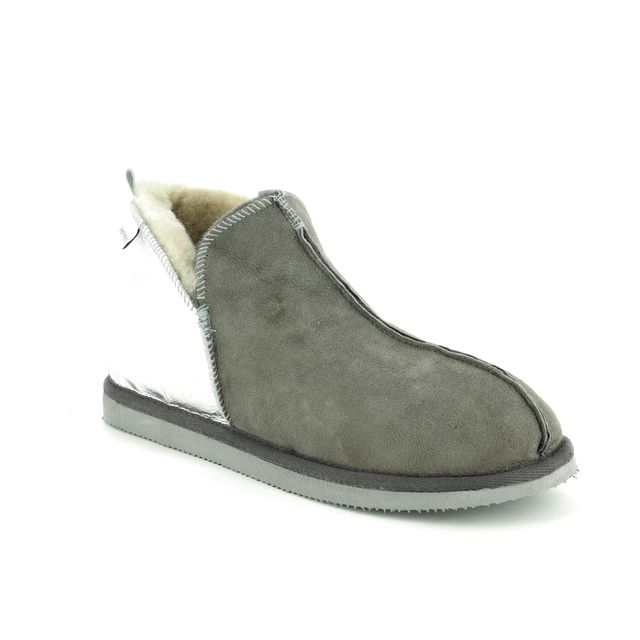 Shepherd of Sweden Slippers - Grey leather - 4922165 ANNIE