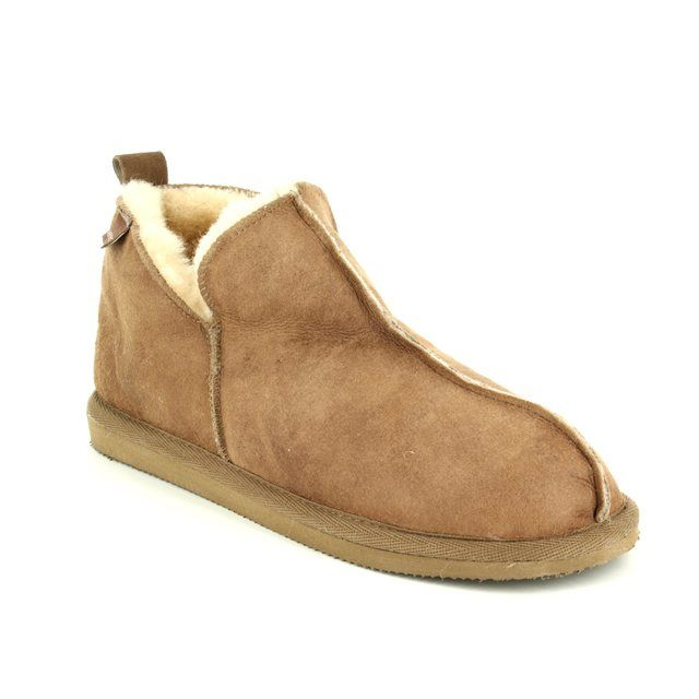 Shepherd of Sweden Slippers - Tan Leather - 492252 ANNIE