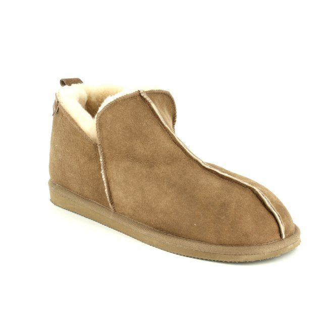 Shepherd of Sweden Slippers - Tan Leather - 492152 ANTON