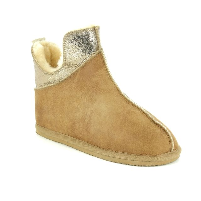 Shepherd of Sweden Slippers - Tan Leather  - 16162152 DANA