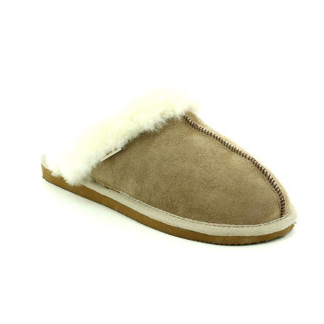 Shepherd of Sweden Slipper Mules - Beige - 046825 JESSICA