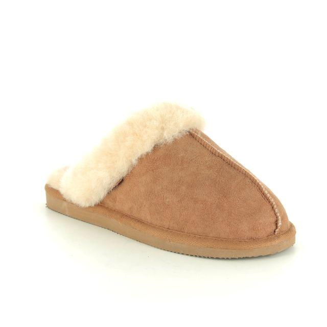 Shepherd of Sweden Slippers - Tan Leather  - 468056 JESSICA