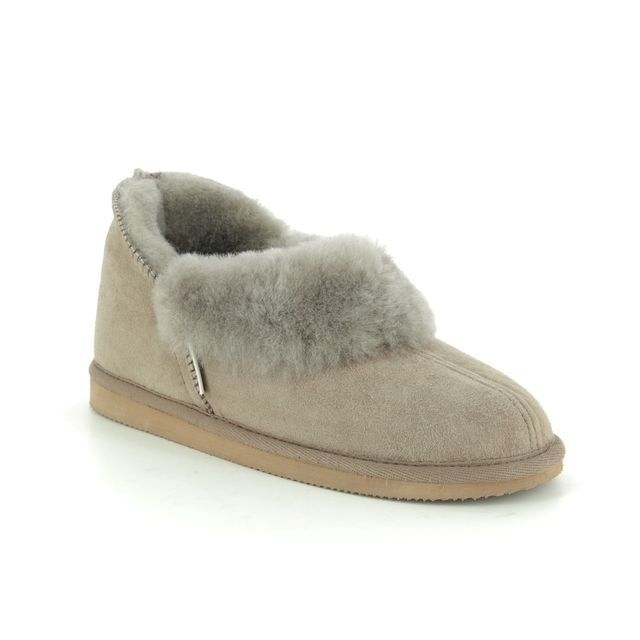 Shepherd of Sweden Slippers - Light Grey Suede - 0464025 KARIN