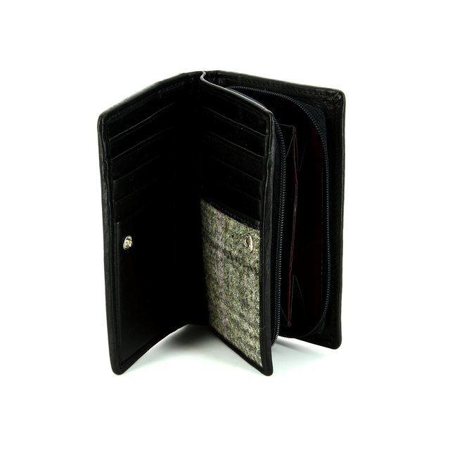 Shetland Tweed 3115-33 Black multi purse