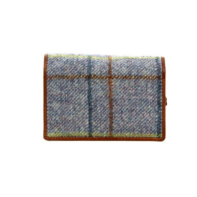 Shetland Tweed 3115-70 Blue multi purse