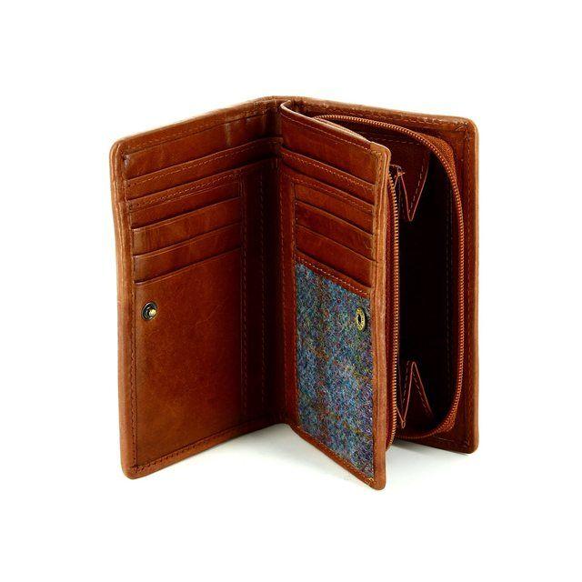 Shetland Tweed 3115-81 Blue multi purse