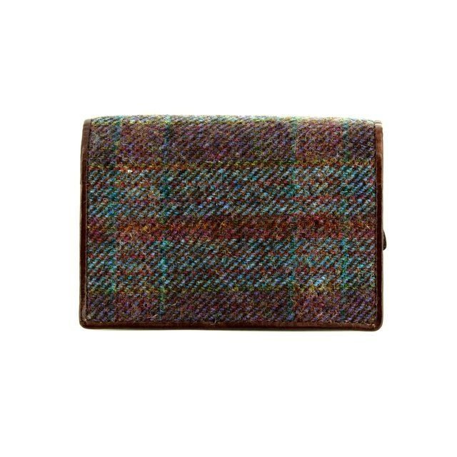 Shetland Tweed Purse - Purple multi - 3115/90 3115