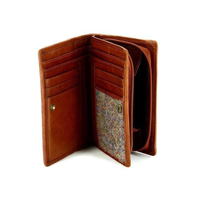 Shetland Tweed 3115-91 Brown multi purse