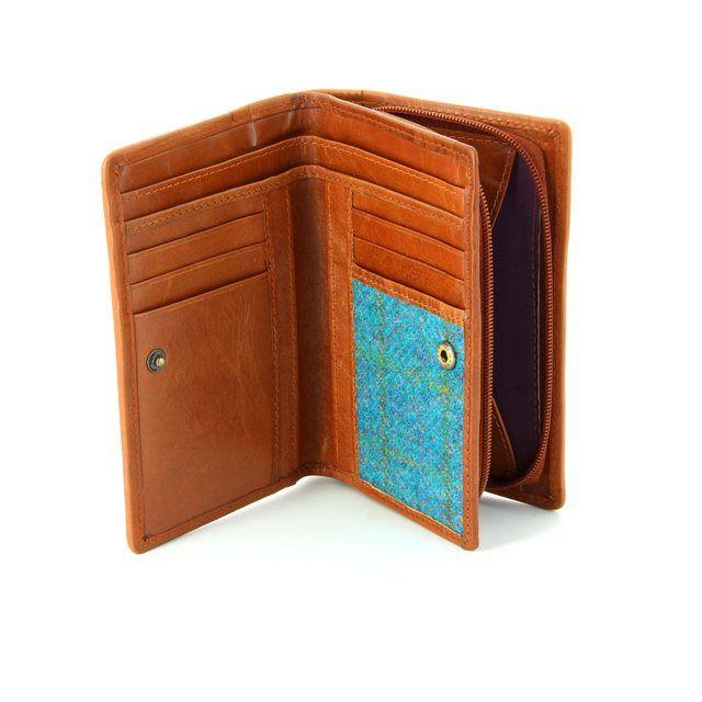 Shetland Tweed Purse - Turquoise - 3115/93 3115