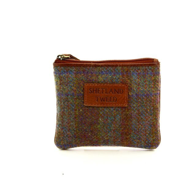 Shetland Tweed Purse - Tan multi - 4106/20 4106    COIN