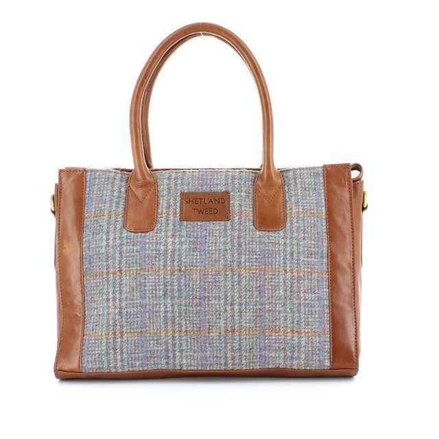 Shetland Tweed Handbag - Tweed - 0701/71 LGE GRAB